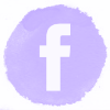 Lilac watercolor Facebook social media icons